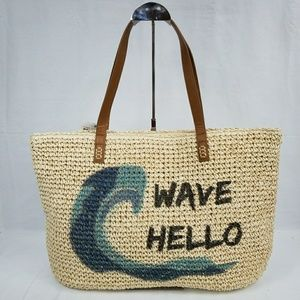 NWT Style & Co Wave Hello Straw Tote